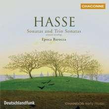 Johann Adolph Hasse (1699-1783): Triosonaten in C,d,F für Oboe,Violine,Bc, CD
