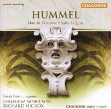 Johann Nepomuk Hummel (1778-1837): Messe d-moll WoO.13, CD
