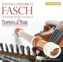 Johann Friedrich Fasch (1688-1758): Orchesterwerke Vol.3, CD