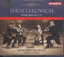 Dmitri Schostakowitsch (1906-1975): Streichquartette Nr.1-13, 4 CDs