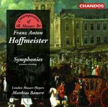 """Franz Anton Hoffmeister (1754-1812): Symphonien G-Dur (""""Festa della Pace""""),E-Dur,D-Dur, CD"""