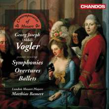 Georg Joseph Vogler (1749-1814): Symphonien G-Dur & d-moll, CD