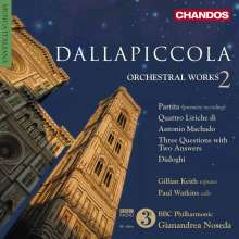 Luigi Dallapiccola (1904-1975): Orchesterwerke Vol.2, CD