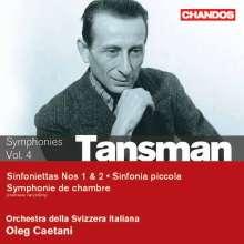 Alexandre Tansman (1897-1986): Sinfoniettas Nr.1 & 2, CD