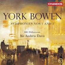 York Bowen (1884-1961): Symphonien Nr.1 & 2, CD