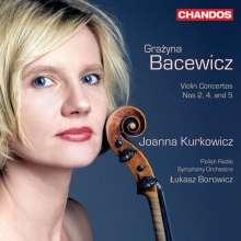Grazyna Bacewicz (1909-1969): Violinkonzerte Nr.2,4,5, CD