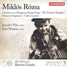 Miklos Rozsa (1907-1995): Orchesterwerke Vol.2, CD