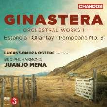 Alberto Ginastera (1916-1983): Orchesterwerke Vol.1, CD