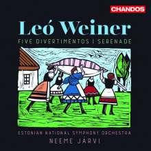 Leo Weiner (1885-1960): Divertimenti für Orchester Nr. 1-5 (op.20, 24, 25, 38, 39), CD