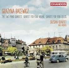 Grazyna Bacewicz (1909-1969): Klavierquintette Nr.1 & 2, CD