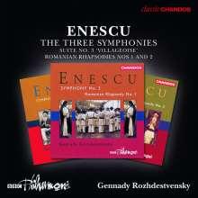 George Enescu (1881-1955): Symphonien Nr.1-3 (opp.13,17,21), 3 CDs