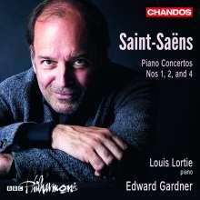 Camille Saint-Saens (1835-1921): Klavierkonzerte Nr. 1,2,4, CD