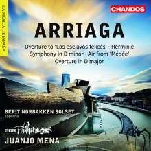 """Juan Arriaga (1806-1826): Symphonie d-moll """"Symphonie a grand orchestre"""" (ca.1824), CD"""