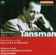 Alexandre Tansman (1897-1986): Symphonien Nr.4-6, SACD