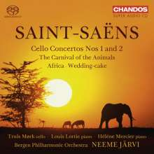 Camille Saint-Saens (1835-1921): Cellokonzerte Nr.1 & 2, Super Audio CD