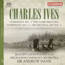 "Charles Ives (1874-1954): Symphonien Nr.3 ""The Camp Meeting"" & Nr.4, SACD"