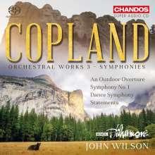 Aaron Copland (1900-1990): Orchesterwerke Vol.3 - Symphonien, SACD