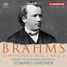 Johannes Brahms (1833-1897): Symphonien Nr.1 & 3, Super Audio CD