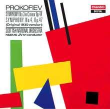 Serge Prokofieff (1891-1953): Symphonien Nr.3 & 4, CD