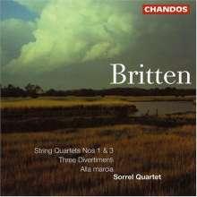 Benjamin Britten (1913-1976): Streichquartette Nr.1 & 3, CD