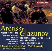 Anton Arensky (1861-1906): Violinkonzert op.54, CD