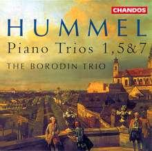 Johann Nepomuk Hummel (1778-1837): Klaviertrios Nr.1,5,7 (opp.12,83,96), CD