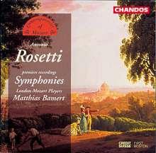 Antonio Rosetti (1750-1792): Symphonien Murray A9,A12,A33,A40 (Kaul I Nr.12,21,22,24), CD