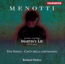Gian-Carlo Menotti (1911-2007): Martin's Lie (Opera da Chiesa), CD