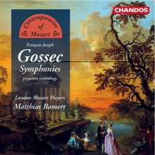 Francois-Joseph Gossec (1734-1829): Symphonien op.5 Nr.2 & 3;op.12 Nr.5 & 6, CD