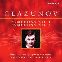 Alexander Glasunow (1865-1936): Symphonien Nr.4 & 5, CD