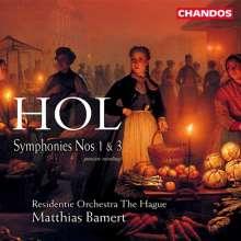 Richard Hol (1825-1904): Symphonien Nr.1 & 3, CD