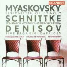 Edison Denisov (1929-1996): 5 Paganini-Capricen für Violine & Streicher, CD