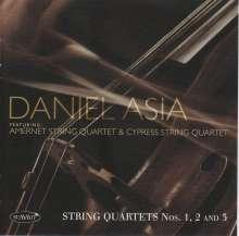 Daniel Asia (geb. 1953): Streichquartette Nr-1.3, CD