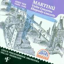 Bohuslav Martinu (1890-1959): Violinkonzerte Nr.1 & 2, CD