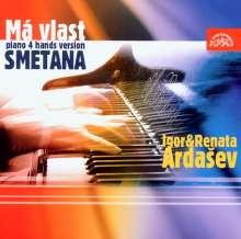 Bedrich Smetana (1824-1884): Mein Vaterland für Klavier 4-händig, CD