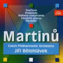 Bohuslav Martinu (1890-1959): Sinfonia concertante f.2 Orchester, CD