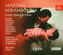 Bohuslav Martinu (1890-1959): Mirandolina (Komische Oper in 3 Akten), 2 CDs