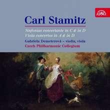 Carl Stamitz (1745-1801): Sinfonie concertante in C & D für Violine,Viola,Orchester, CD
