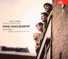 Pavel Haas (1899-1944): Streichquartette Nr.1 & 3, CD