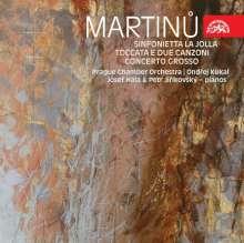 Bohuslav Martinu (1890-1959): Sinfonietta La Jolla für Klavier & Kammerorchester, CD