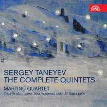 Serge Tanejew (1856-1915): Sämtliche Quintette, 2 CDs