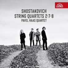 Dmitri Schostakowitsch (1906-1975): Streichquartette Nr.2,7,8, CD