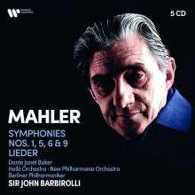 Gustav Mahler (1860-1911): Symphonien Nr.1,5,6,9, 5 CDs