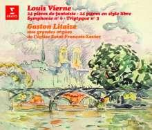 Louis Vierne (1870-1937): Die 24 Pieces de Fantaisie opp.51,53-55, 4 CDs