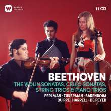 Ludwig van Beethoven (1770-1827): Die Violinsonaten,Cellosonaten,Streichtrios & Klaviertrios, 11 CDs
