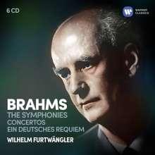 Johannes Brahms (1833-1897): Wilhelm Furtwängler dirigiert Brahms, 6 CDs