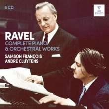 Maurice Ravel (1875-1937): Sämtliche Orchester- & Klavierwerke, 6 CDs