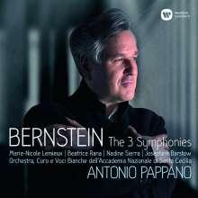 Leonard Bernstein (1918-1990): Symphonien Nr.1-3, 2 CDs