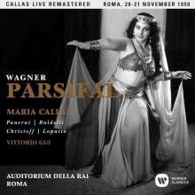 Richard Wagner (1813-1883): Parsifal (gekürzte Fassung in ital.Spr.) (Remastered Live Recording 20./21.11.1950), 3 CDs