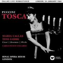 Giacomo Puccini (1858-1924): Tosca (Remastered Live Recording London 24.01.1964), 2 CDs
